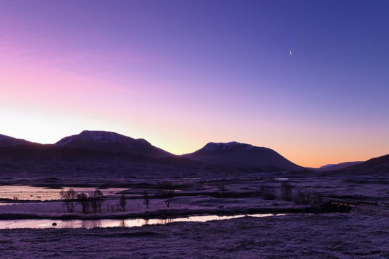Il sorgere della luna ~ Rannoch Moor, Scozia