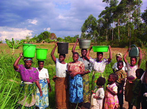 Women Collecting Water in Malawi