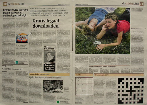 Interview met mij in Trouw over BUMA-CC pilot (31 aug '07) | by Marco Raaphorst
