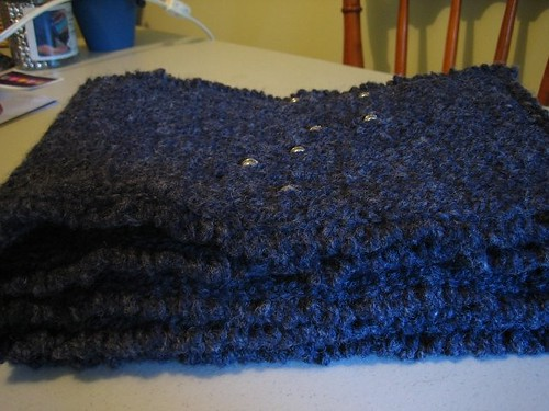 Big Dipper Scarf sideview | by knittedgems
