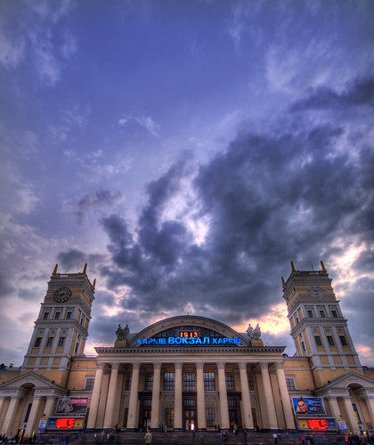 Sunset at the Kharkov Train Station | by Stuck in Customs
