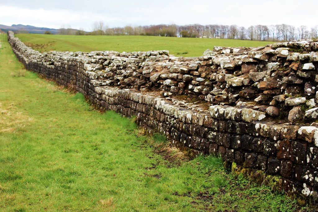 Hadrian's Wall at Birdoswald Roman Fort.