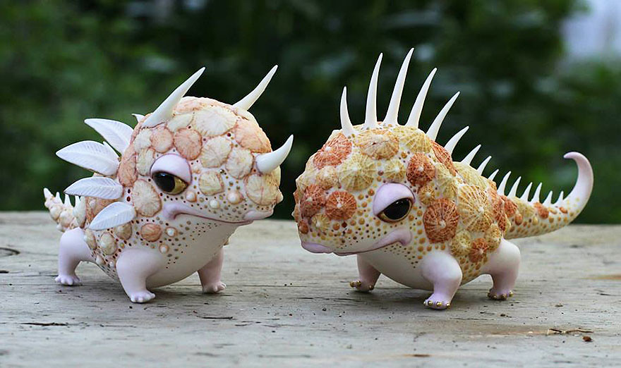 Fairytale Porcelain Creatures by Anya Stasenko and Slava Leontyev