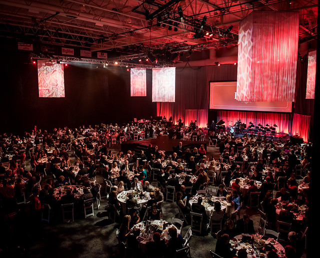 Ariel view of 2016 President's Honors Gala
