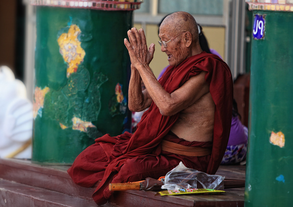 A Venerable Monk In Prayer