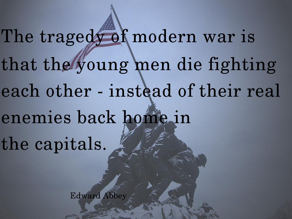 tragedy modern war