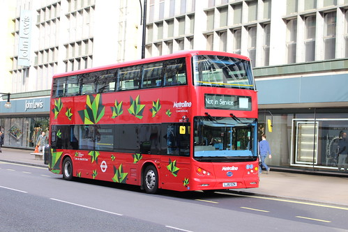 """Metroline BYD1472 """"on Route 98 (Testing)"""", Oxford Circus"""