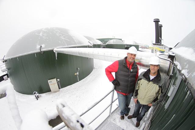 3.9 million litre biogas digestors