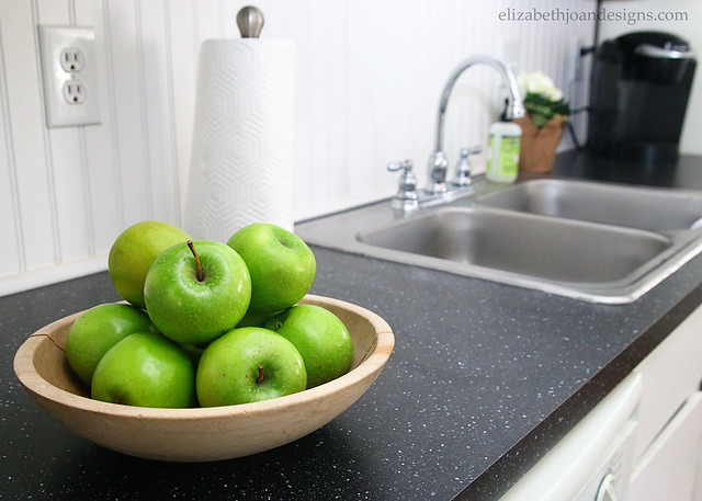 Green Apple Black Laminate Counters