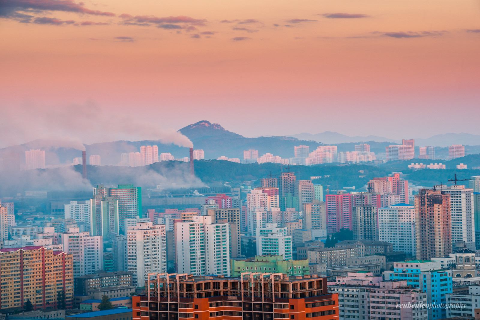 Sunrise in the Capital of Pyongyang City