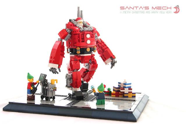 Robot Père Noël Mecha