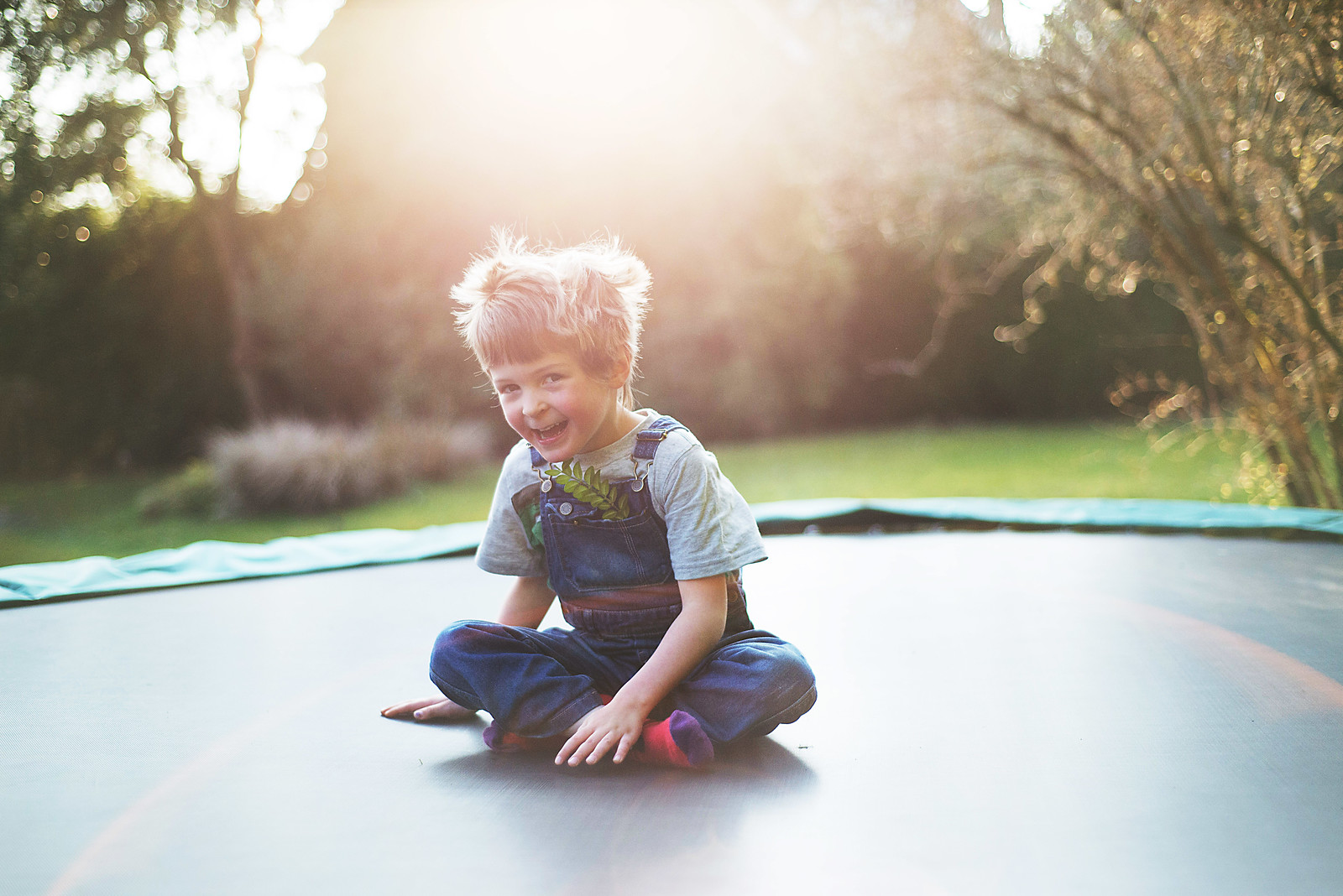 How to take great photos on a trampoline - Chase the sunlight and make the most of the lovely afternoon sun when it is low in the sky