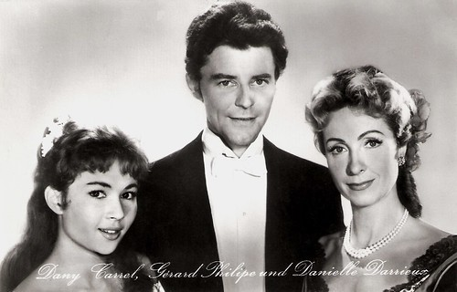 Dany Carrel, Gérard Philipe and Danièle Darrieux in Pot-Bouille (1957)