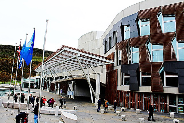Scottish Parliament, Edinburgh, Scotland.