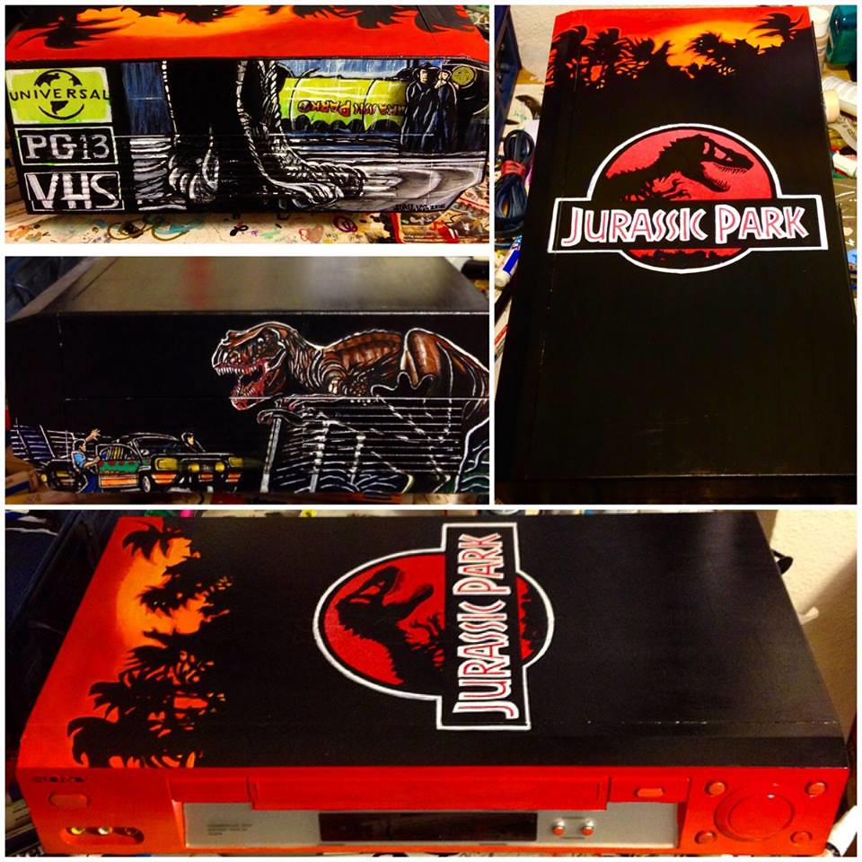 Jurassic Park custom VCR by Sorce CodeVhs