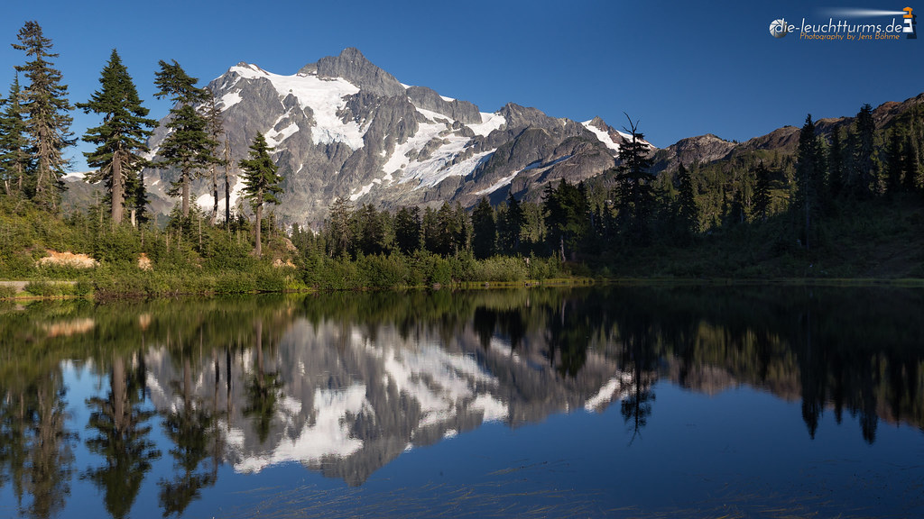 Mount Shuksan mirrored in Picture Lake