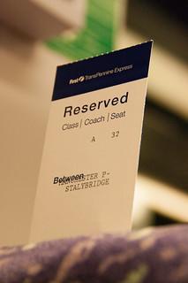Reserved Seat - 指定席