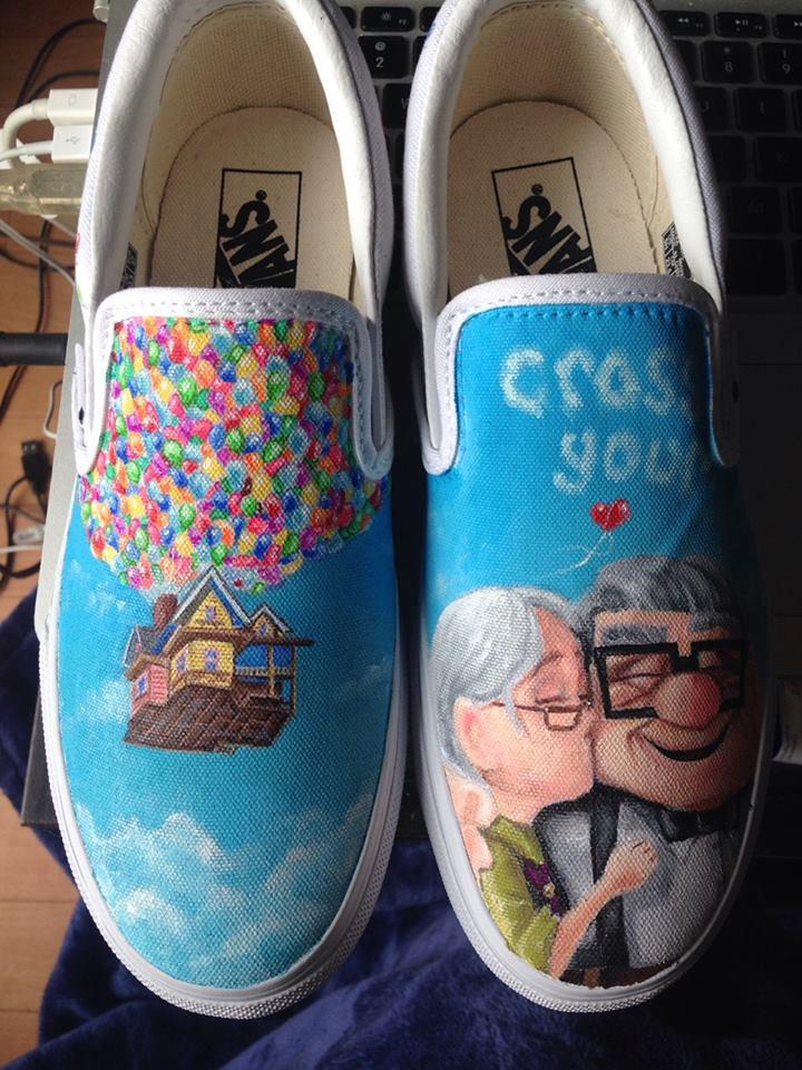 Custom shoe art by Danny P - Disney Pixar Up