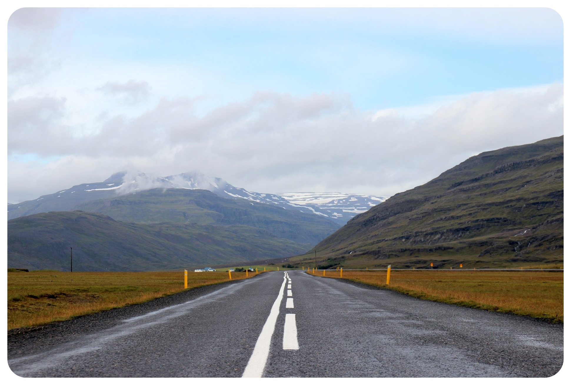 southern iceland mountain road