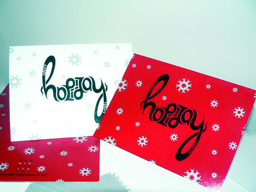 Happy Holidays Ambigram Card | by npgraphicdesign