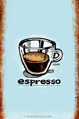 Espresso (320x480 Wallpaper) | by Mike Rohde