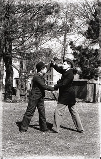 Entertainer demonstrating self-defense | by Special Collections & University Archives (ISU)
