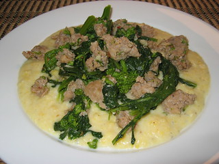 Italian Suasage and Rapini on Gorgonzola Polenta | by Kevin - Closet Cooking