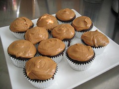 Chocolate Cupcakes with Peanut Butter Icing | by Sunday Nite Dinner