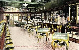 Calkins Pharmacy and branch post office, 324 S. State Street, Ann Arbor, 1907 | by Wystan