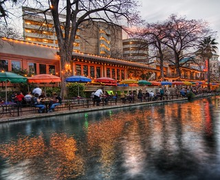 The River Walk at Sunset in San Antonio | by Stuck in Customs
