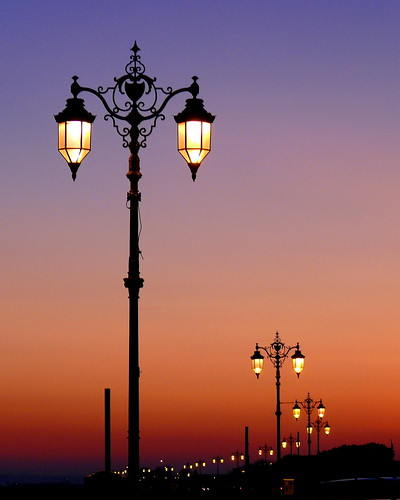 Street lights at sunset, Southsea | by pompey shoes