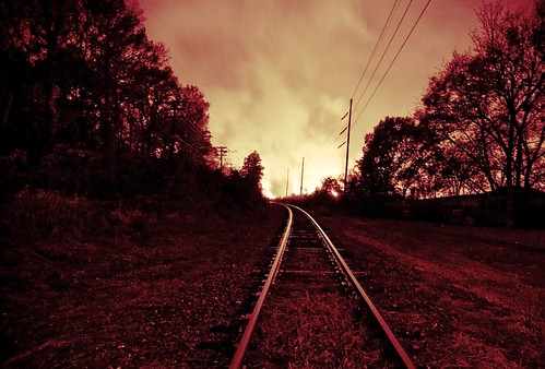 tracks toward flames | by briantmurphy