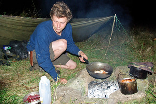 Nick Weston Cooking Chicken of The Woods | by The Hungry Cyclist