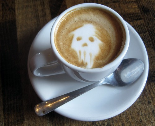 Fremont Coffee Company Skull Latte Art