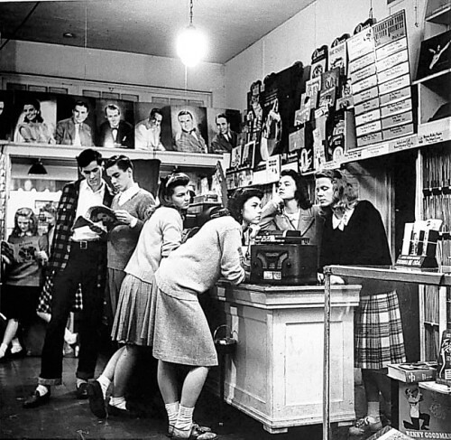 Record Store Early 1950s Railroad Jack Flickr