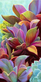Succulent Jewels giclee print on canvas or/paper ©Sandi Whetzel | by sandiwhetzel