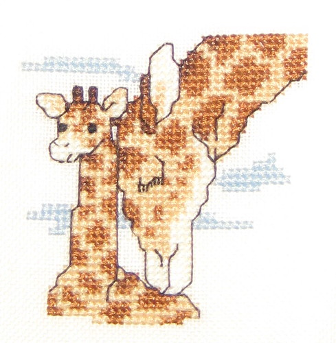 Giraffe Mother and Baby Cross Stitch | by steph.clifford
