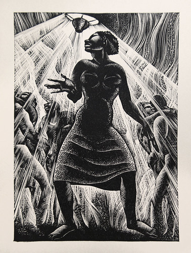 "Lynd Ward - Wood Engraving for Alec Waugh's ""Most Women..."" (1931) 