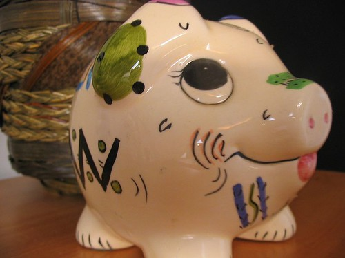 Piggy bank always hungry :o)