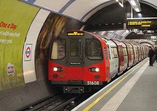 1995 Tube Stock at Camden Town