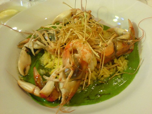 Jamic yabbies, saffron pilaf, vanilla creamed spinach | by clotilde