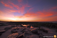 Sunset over a beach at Exmouth, Western Australia | by Stewart Macdonald
