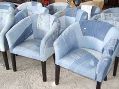 1175 tub chair old jeans | by woven by primuss