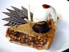 Date and Walnut Pie and Ice Cream | by Kirti Poddar