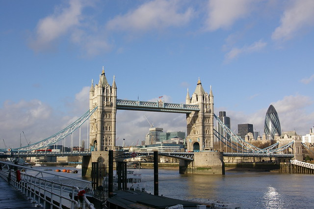 "Tower Bridge and ""The Gherkin"""