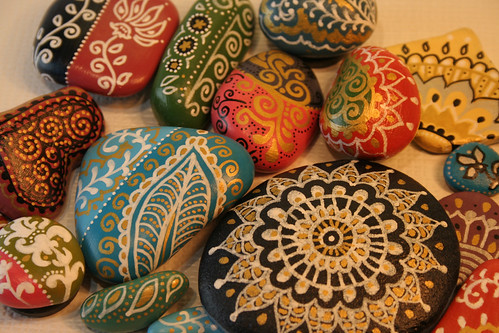 Painted Pebbles | by adrifza