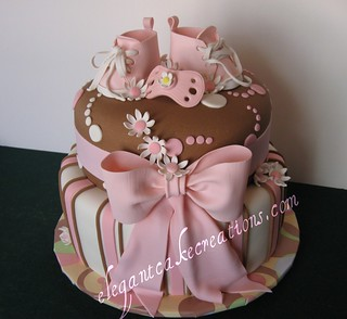 Baby girl shower cake | by Elegant Cake Creations AZ