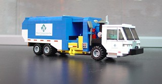 LEGO Waste Connections Peterbilt / Labrie Expert 2000 Helping Hand Side Load Garbage Truck | by dfuzz78