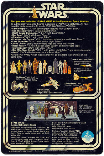 Star Wars 12-back action figure backing card (SW12C) by Kenner | by Matt & Kristy