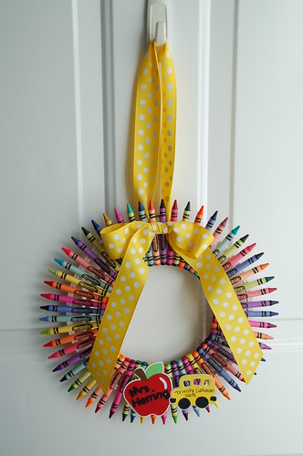 Crayon Wreath | by wannabecrafty